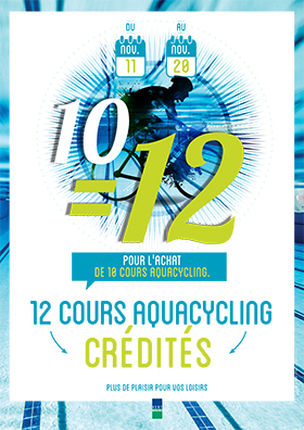 Opération 10 = 12 cours Aquacycling